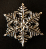 Sterling Silver Snowflake Pin With a Small Diamond in the Center
