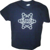Kids Front Alta Flake T-Shirt, in navy and sport grey.