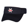 Navy Sport Visor with Alta Snowflake