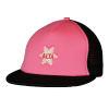 Pink Alta Snowflake Trucker Style Plush Cap with a Mesh Back