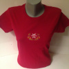 Red Women's Cotton Alta Snow Flake with Flowers Cotton T-Shirt